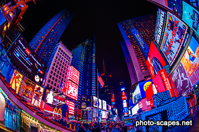 Площадь Таймс-Сквер ночью, Нью-Йорк